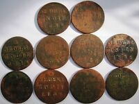 10 PCS WHOLESALE LOTS VOC NEDERL INDIE DUIT 1826 1/2 S BIG COINS  10112