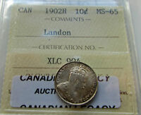 Click now to see the BUY IT NOW Price! CANADA 1902 H 10 CENTS DIME EDWARD VII ICCS GRADED  MS 65 LANDON SALE