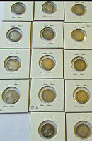 CANADA 5 CENTS SILVER 1886 1888 1896 1897 1900 1902 H 1903 1903 H 1908 1909