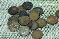 LOT OF 20 CIRCULATED GREAT BRITAIN BRONZE PENNIES 1800'S 1900'S  NUM2491