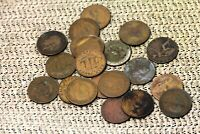 LOT OF 20 CIRCULATED GREAT BRITAIN BRONZE HALF PENNIES 1800'S 1900'S  NUM2492