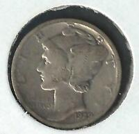 1929 MERCURY SILVER DIME IN CIRCULATED CONDITION
