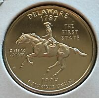 1999  S PROOF CLAD STATEHOOD QUARTER DELAWARE FROM U.S. MINT WOW LOOK