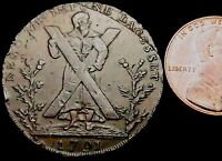 S219: 1791 SCOTTISH CONDER TOKEN   EDINBURGH HALFPENNY   D&H LOTHIAN 38