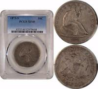 1872 S LIBERTY SEATED HALF DOLLAR  PCGS XF40  < LOW MINTAGE BETTER DATE >