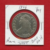 1826 CAPPED BUST SILVER HALF DOLLAR 70652 NICE COIN US MINT  KEY DATE ESTATE