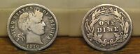 1916 S BARBER LIBERTY HEAD SILVER DIME 1916S US COIN