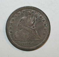 1846  SEATED LIBERTY HALF DD8