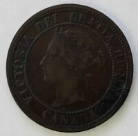 CANADA 1876 LARGE ONE CENT VICTORIA WITH