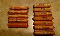 12  ROLLS LINCOLN WHEAT CENTS 1936 1937 1939 1944 1952D 1955D 1956D 1940 TO 1958