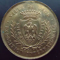 NICE EXPOSITION INTERNATIONALE 1883 1884 MDAILLE MANQUE LA BELIERE 29,5 MM,