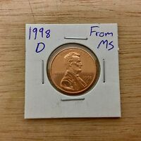 1998 D FROM MS LINCOLN MEMORIAL CENT LOTA 018