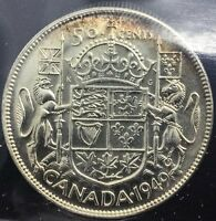 Click now to see the BUY IT NOW Price! CANADA 1949   50 CENTS MS 65  GEM SILVER HALF   ICCS