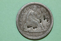 NET FINE 1850 O BETTER DATE DAMAGED LIBERTY SEATED SILVER DIME SLD626