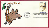 1979 15C SEEING EYE DOGS 1787, FDC, ELLIS, ANIMATED, HAND-COLORED