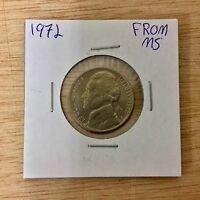 1972 P FROM MS JEFFERSON NICKEL LOTE 067