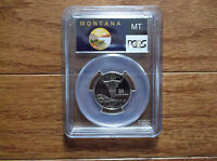 2007 S 25C CLAD MONTANA STATE FLAG LABEL QUARTER PROOF PCGS PR70DCAM