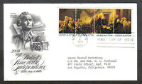 US FDC 1976 200TH YEAR BIRTH OF AMERICAN INDEPENDENCE 13C STRIP FIRST DAY COVER