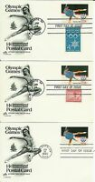 USA POSTCARD FDC OLYMPIC GAMES UX82 SET OF 3  PEGGY FLEMING FIGURE SKATER  716