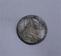 1787 GREAT BRITAIN SILVER SIXPENCE 6D NO HEARTS GEORGE III KM 606.1 SUPERB UNC