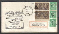 1948 US FIRST FLIGHT COVER AIR MAIL SERVICE BY HELICOPTER LOS ANGELES AREA