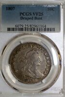 ONE  PCGS GRADE VF25 U.S. 1807 DRAPED BUST HALF DOLLAR 82961164