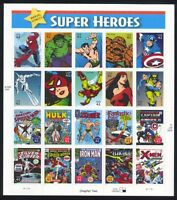 4159 SUPER HEROES 41C MINT SUPERB-NH SHEET
