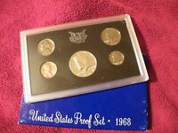 1968 UNITED STATES 5 COIN PROOF SET PLUS LOT OF 3 1979 2000 2001 MINT SETS