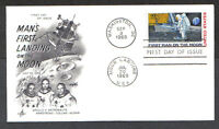 US FDC 1969 FIRST MAN ON THE MOON 10C AIR MAIL AC FIRST DAY OF ISSUE COVER