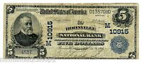 BOONVILLE, MISSOURI MO $5 LARGE, BLUE SEAL 1902 NATIONAL BANK NOTE, CH 10915