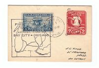 US SCOTT  650 USED ON SMALL 1929 FIRST FLIGHT COVER TO MASS, ADDRESSED TO E.C