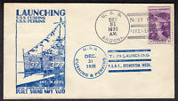 1935 USS ARIZONA BB-39 WELCOMES USS CUSHING DD376 & USS PERKINS DD377  U75