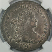 1797 DRAPED BUST SILVER DOLLAR $1 NGC XF 45 HIGH END EXAMPLE