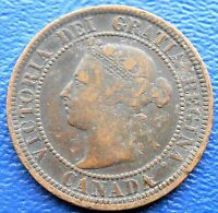 1888 CANADA LARGE CENT KM 7 QUEEN VICTORIA NICE CIRCULATED COIN  U
