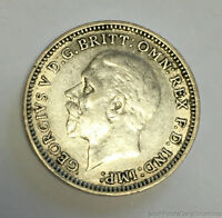 1932 GREAT BRITAIN THREE PENCE WORLD COIN 0.500 SILVER ABOUT UNCIRCULATED