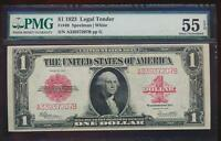 AC FR 40 1923 $1 LEGAL TENDER RED SEAL  PMG 55 EPQ