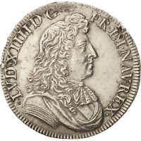 [19791] FRANCE LOUIS XIV 1/2 CU  LA CRAVATE 1676 PARIS TTB ARGENT
