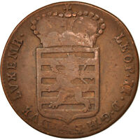 [409027] LUXEMBOURG LEOPOLD II SOL 1790 G TB CUIVRE KM:15