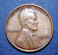 1936  LINCOLN WHEAT CENT PENNY   FINE CONDITION 1936P