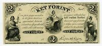 1800'S $2 KET FORINT   NEW YORK HUNGARIAN NOTE