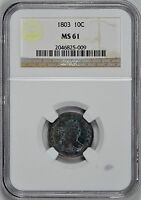 1803 DRAPED BUST 10C NGC MINT STATE 61