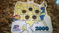 2000 US MINT UNCIRCULATED COIN STATE QUARTER PROOF SET US TREASURY HALLMARK