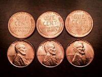 1948 D ROLL CHOICE BU UNCIRCULATED LINCOLN CENT PENNIES