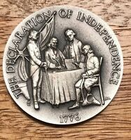 1776. DECLARATION OF INDEPENDENCE. 1 OZ LONGINES STERLING SILVER MEDAL COIN