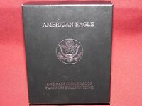 1998 1/2 OZ PLATINUM PROOF AMERICAN EAGLE OGP EMPTY BOX WITH COA NO COIN