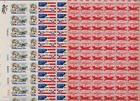 U.S. 3 AIRMAIL SHEETS - FACE VALUE $ 39.00