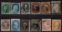 $US 19TH CENTURY USED HIGH CV. STAMP COLLECTION, MIXED CONDITION