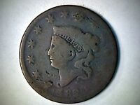 1820 CORONET HEAD UNITED STATES LARGE CENT 196 YEAR OLD COPPER CENT.