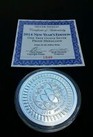 2014 1OZ NEW YEAR EDITION SILVER SHIELD PROOF ROUND 1849 SBSS SSG 777