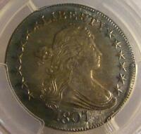1807 DRAPED BUST HALF DOLLAR O-103A PCGS GENUINE; QUEST. COLOR; UNC. DETAILS